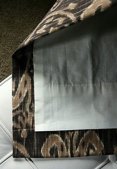 Isabella and Max Rooms/House of Fifty - my fav drapery tutorial. Curtains And Draperies, No Sew Curtains, Types Of Curtains, Drapery Panels, Drapery Fabric, Window Curtains, Valances, Window Coverings, Window Treatments
