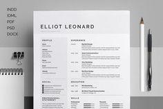 FREE DOWNLOAD! #Resume/#CV - Elliot by bilmaw #creative on…