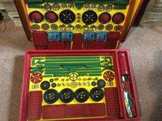 1950 Vintage Meccano Construction Set 8 - Unused Still Wired into Original Box