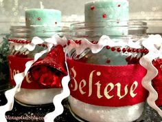 christmas believe candle gifts, christmas decorations, crafts, seasonal holiday decor Christmas Crafts To Make And Sell, Christmas Ornament Crafts, Christmas Candles, Christmas Wishes, Christmas Projects, Red Christmas, Christmas Decorations, Holiday Decor, Christmas Gifts