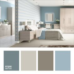 39 Rustic Farmhouse Bedroom Design and Decor Ideas To Transform Your Bedroom - The Trending House Interior Paint Colors For Living Room, Best Bedroom Colors, Bedroom Colour Palette, Interior Color Schemes, Living Room Color Schemes, Bedroom Paint Colors, Living Room Designs, Interior Design, Design Apartment