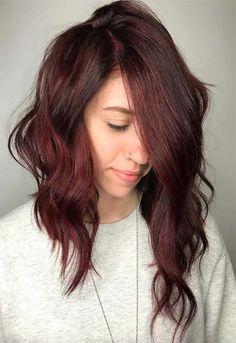 Burgundy hair color shades: wine/ maroon/ burgundy hair dye tips Maroon Hair Colors, Burgundy Hair Dye, Dyed Red Hair, Hair Color Auburn, Hair Color Highlights, Hair Dye Colors, Hair Color Balayage, Maroon Highlights, Bayalage Red