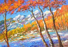 SALE Symphony of autumn Original oil painting on by spirosart