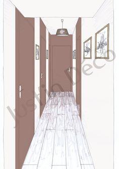 Pingl par julie cottet sur des id es pour le couloir - Couloir sombre quelle couleur ...