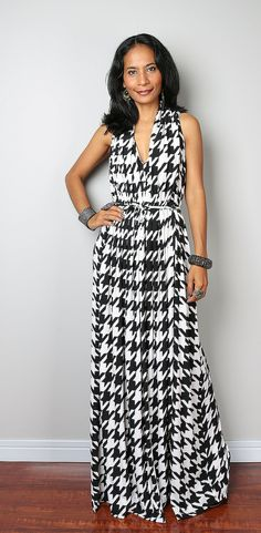 Black and White Dress - Sleeveless Summer Dress : Classy Evening Dress Collection