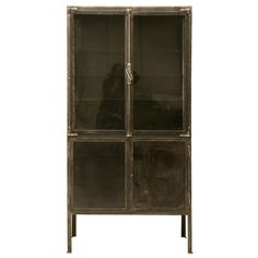 c.1920 French Steel & Glass Doctors' Cabinet