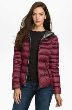Bernardo Hooded Iridescent Down Jacket | Nordstrom