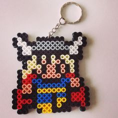 Thor keyring hama beads by beadgeekcreations