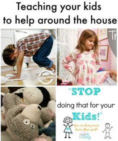 Declutter the house when you have kids - teaching them to help you around the house