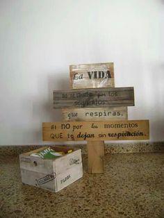 Cartel reciclado