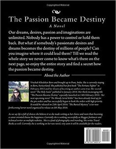 Amazon.com: The Passion Became Destiny: Dreams + Passion = Destiny (9781530242016): Vrushali Khedekar: Books Destiny, Hold On, Novels, Passion, Dreams, Amazon, Reading, Books, Amazons