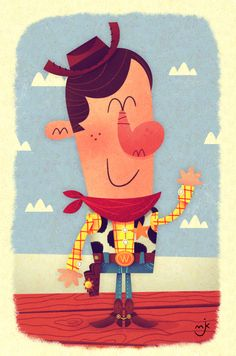 Woody the Cowboy Mini Print by Matt Kaufenberg Disney Concept Art, Disney Fan Art, Disney Love, Disney Magic, Woody Party, Sheriff Woody, Woody And Buzz, Fairy Tales For Kids, Pixar Characters