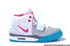 Sale Discount Women Shoes Nike Air Yeezy II Grey/Think Pink-Blue Shoes Shoes Shop