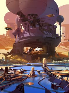 the bay, sparth - nicolas bouvier on ArtStation at https://www.artstation.com/artwork/the-bay-a6853534-4f4f-46ba-a02e-47f93e46fac4