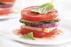 Garden Vegetable Salad Stacker recipe