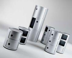 Meuble de rangement Componibili 2 tiroirs