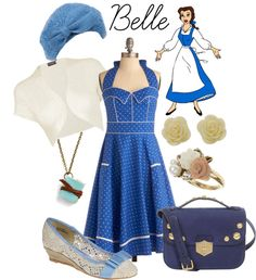 """""""Disney Belle - Soft"""" by sophiedee11 on Polyvore...hmmm...someone I know has a dress JUST like this, and she likes Belle, too..."""