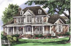 Eplans Farmhouse House Plan - Best of Country and Traditional Styles - 3196 Square Feet and 5 Bedrooms(s) from Eplans - House Plan Code HWEPL10715