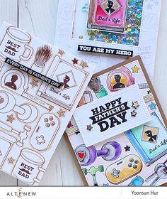 Best Dad Stamp Set - Altenew  - 1
