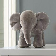 Stuffed elephant toy - Mixte - LIGHT GREY - Jacadi Paris
