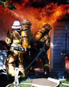Firefighters - they rush into a burning building while everyone else is rushing out