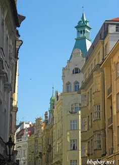 """A Walking Tour of Prague's Old Town - The Jewish Quarter has some of the most beautiful buildings in the city (categorized as """"Art Nouveau"""")."""