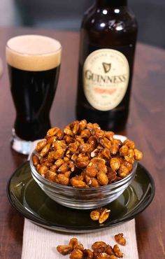 Guinness Glazed Nuts - a sweet and crunchy snack made with Guinness, sugar, vanilla salt and peanuts...