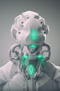 Rude Mechanicals | cybercircuitz:   cosmicwolfstorm:  Mecha Bust by...