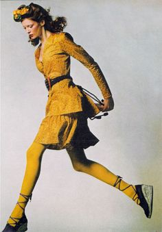 Fashion by Yves Saint Laurent, Vogue UK, 1971.
