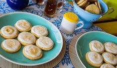Lemon sugar cookies Tapas, Lemon Sugar Cookies, Pretzel Bites, Bread, Food, Juice Cup, Dough Balls, Sugar Flowers, Desserts
