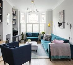 """2,126 Likes, 36 Comments - Farrow & Ball (@farrowandball) on Instagram: """"#Ammonite works to create a wonderfully hushed and calm feeling in this living room, and creates…"""""""