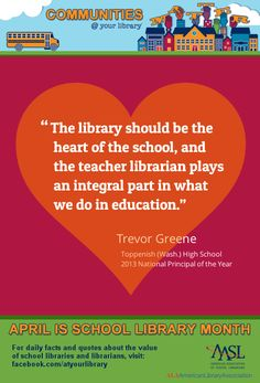 Ideas for High School Librarians Library Week, Library Ideas, Special Library, Library Quotes, American Library Association, Community Library, Teacher Librarian, Daily Facts, Media Specialist
