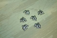 6 Antique Silver Elephant Charms Nickel & Lead by DiscountDesires, $3.75