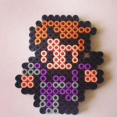 Hawkeye keyring hama beads by beadgeekcreations