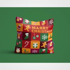 Square Pillow Designed for Christmas Promotion. Any Color & Material are available, Worldwide Shipping & Small Order Accepted.