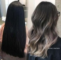 17 Stunning Examples of Balayage Dark Hair Color - Style My Hairs Balayage Hair Blonde, Brunette Hair, Ombre Hair, Black To Blonde Hair, Ash Brown Balayage, Ombre On Black Hair, Black Balayage, Ashy Hair, Short Balayage