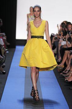 Monique Lhuillier Yellow Cocktail Dress.