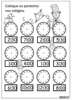 18 new Pins for your Telling Time board - Outlook Web App, light version First Grade Math Worksheets, 1st Grade Math, Preschool Worksheets, Kindergarten Math Activities, Learning English For Kids, English Lessons For Kids, Math School, Homeschool Math, Math For Kids