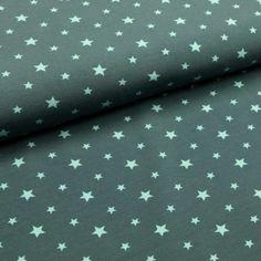 Petrol und Mint: Allein die Farbkombi des Jerseystoffs mit Sternenprint inspiriert und zu allerlei DIYs'. Alexander Mcqueen Scarf, Mint, Fashion, Alone, Colors, Cotton, Moda, Fashion Styles, Fasion