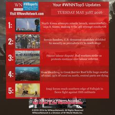 Go beyond the status quo with #WNewsNetwork & experience your social news updates with #WNNtop5 stories
