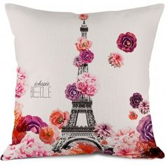 pillows, bags and purses, accessories, gift - Hello My Pillow - Bonjour Mon Coussin Tour Eiffel, Parisian Decor, Small Cushions, Photo Pillows, Love French, Flower Pillow, Christmas Gift For You, French Decor, Soft Furnishings