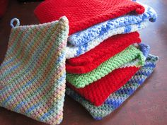 This pattern is not my design. It is a handed down and passed around pattern. I simply wrote it up to share with others because I love these potholders so much. I learned it from looking at potholders made before I was born. Let me know if you have any questions.