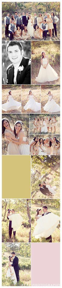 wedding party portrait ideas vintage wedding taupe bridesmiad dresses