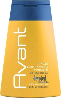 Devoted Creations Avant Tingle Dark Tanning Optimizer Tanning Lotion 7 oz by Devoted Creations. $18.28. 7 oz. Fragrance: Pomegranate. Avant utilizes Devoted Creations' newest tingle technology.. Avant is able to stimulate microcirculation to help produce an extreme dark tan without bronzers.. Avant Tingle Optimizer  Avant utilizes Devoted Creations' newest tingle technology. Utilizing encapsulated Tingle Technology. Avant is able to stimulate microcirculation to help...