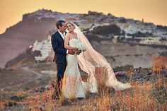 """After attending a wedding at Theros Wave Bar in Santorini, Jaimie-May and Terry knew they had to say """"I do"""" in their own elegant Greek celebration there! Wedding Blog, Dream Wedding, Couple Shots, Santorini Wedding, Wedding Abroad, Destination Wedding Photographer, Wedding Couples, Elegant Wedding, Wedding Photography"""