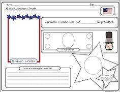 Free Abe Lincoln worksheet