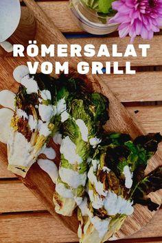 Römersalat vom Grill mit Minz-Dressing Bbq, Friday Night Dinners, Date Dinner, Yummy Food, Yummy Recipes, Perfect Food, Cabbage, Dressing, Mexican