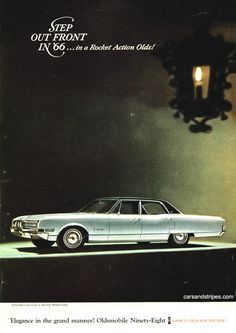1966 Oldsmobile Ninety-Eight - Elegance in the grand manner! - Original Ad