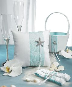 Star fish - Ring bearer pillow and flower girl basket