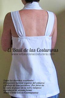 T-Shirt 108 Burda Style 06/13. Patrón de costura Talla 36. FREE Sewing Pattern. Moda de Verano Blusas Modernas   EL BAÚL DE LAS COSTURERAS